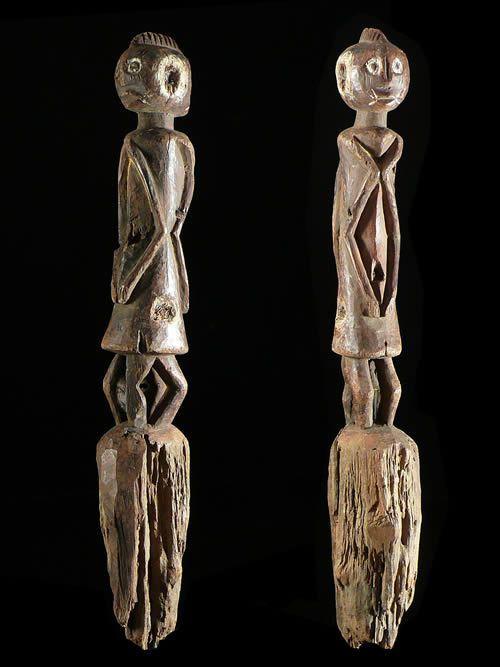 Statuette anthropomorphe janiforme - Chamba - Nigeria