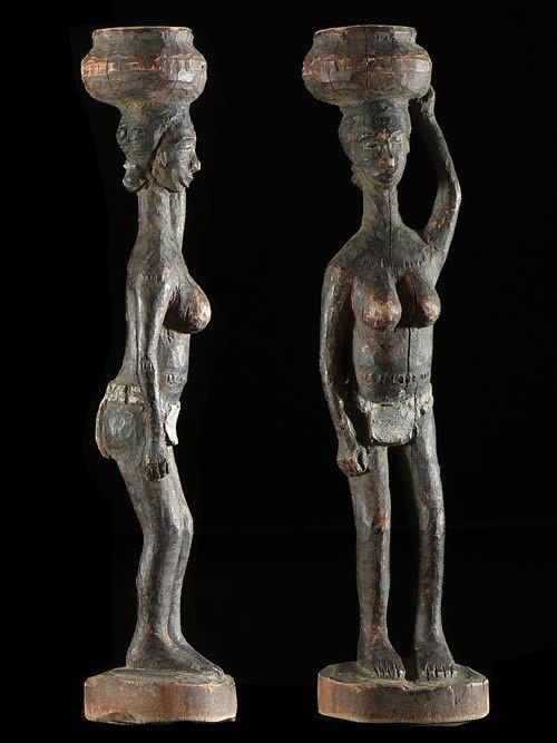 Statuette polychrome ancienne - Baoule / Tagwana - Côte d'Ivoire