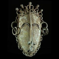 Masque Bronze ancien -...