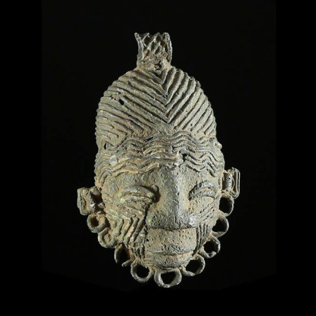Masque Bronze ancien - Igbo...