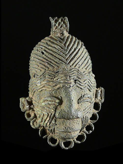 Masque Bronze ancien - Igbo Isaiah / Igbo Ukwu - Nigeria
