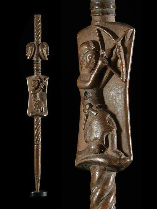 Sceptre de dignitaire - Songye - RDC Zaire - Objets de regalia