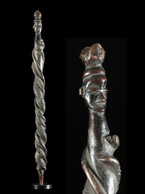 Sceptre de dignitaire - Yaka - RDC Zaire - Objets de regalia