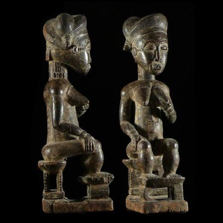 Statue de reine - Baoule -...