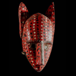 Masque Hyene polychrome -...