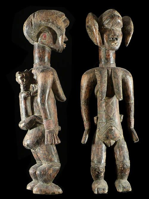 Statue Maternite Lu me - Dan - Côte d'Ivoire