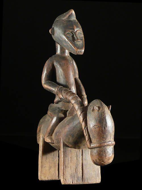 Cavalier et son cheval Syonfolo - Senoufo - Côte d'Ivoire