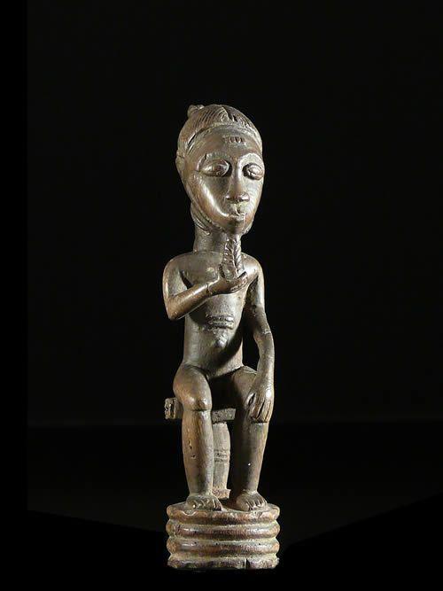 Statuette de dignitaire - Baoule - Côte d'Ivoire