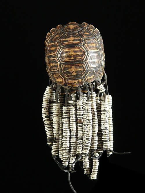 Hochet Pendentif - Amulette Tortue - Kung San - Bostwana