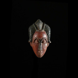 Masque amulette polychrome...
