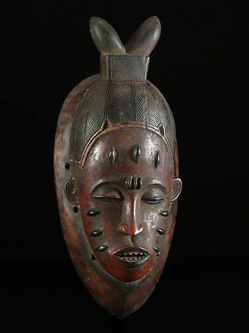 Masque Polychrome Gou - Gouro - Côte d'Ivoire
