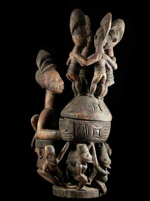 Porteuse de coupe - Yoruba - Nigeria - Olowe of Ise ?