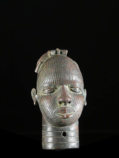 Tete de reine Iyoba en Bronze - Ife - Bini Edo - Nigeria