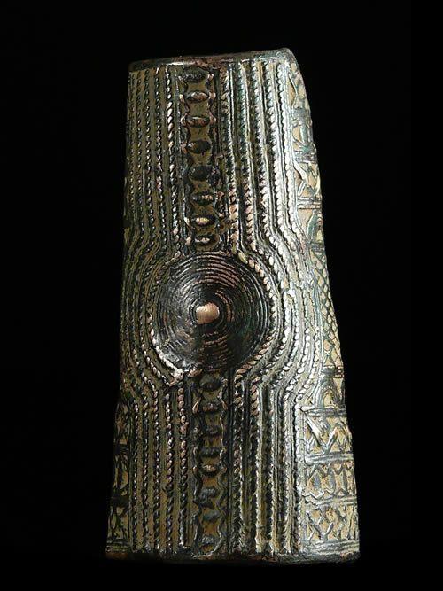 Jambiere ou Chevillere en bronze - Bini Edo - Nigeria
