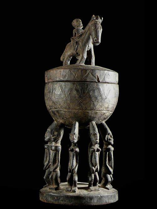 Coupe rituelle avec cavalier - Dogon - Mali