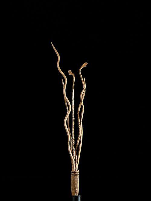 Monnaie primitive Serpent en fer noir - Mumuye - Nigeria
