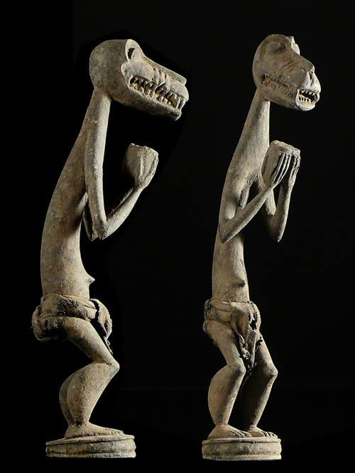 Statuette genie singe Gbekre - Baoule - Côte d'Ivoire