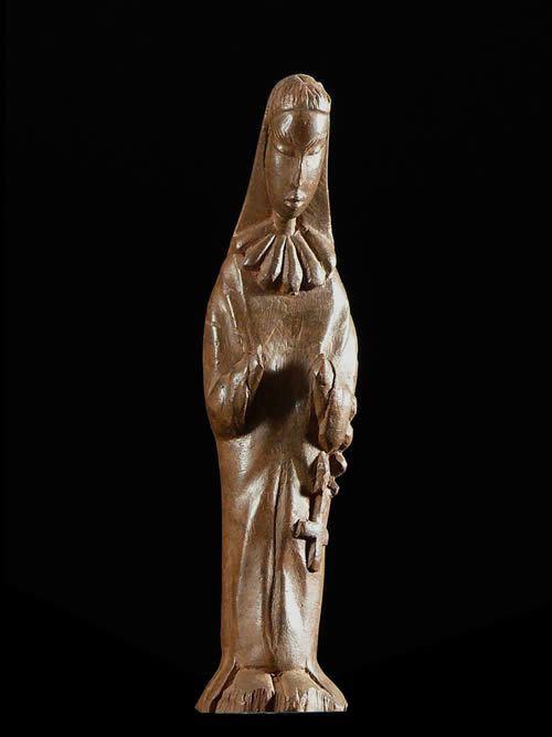 Statuette de Vierge Chretienne - Lobi - Burkina Faso