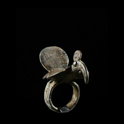 Bague amulette Oiseau -...