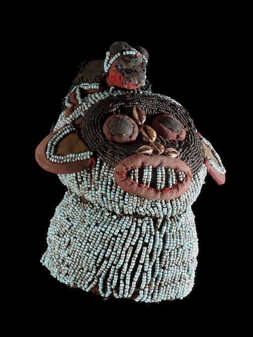 Tête Atwontzen - Bamileke - Cameroun - Perles afrique