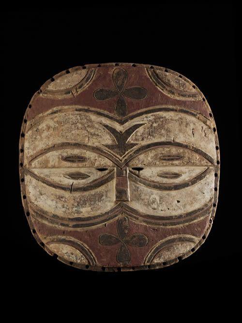 Masque facial Kidumu - Teke / Tsayi - RDC Zaire