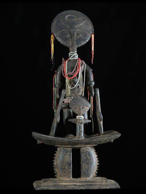 Composition poupee de fecondite Akua Ba - Ashanti - Ghana