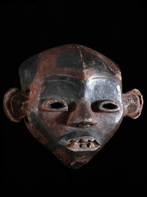 Masque de guerre polychrome - Boa - RDC Zaire