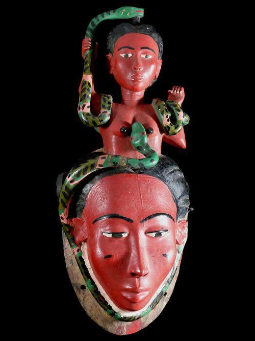 Masque de rejouissance Mami Wata - Baoule - Côte d'Ivoire