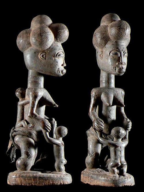 Statuette Maternite - Baoule - Côte d'Ivoire