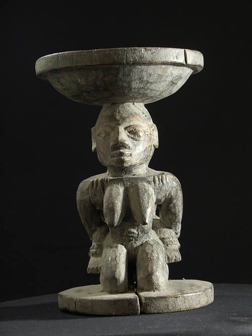 Coupe ancienne Adjere Fa - Yoruba - Benin - Statues Africaines