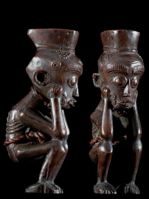 Mortier a chanvre ou tabac - Luluwa - RDC Zaire