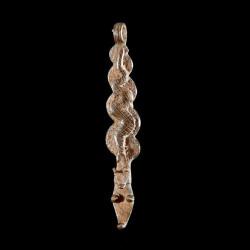 Pendentif amulette vipere -...