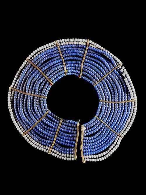 Collier ancien en perles de verre - Pokot - Kenya / Ouganda