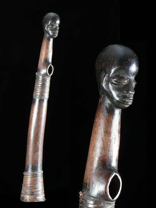 Trompe ou Olifant en bois - Gourounsi / Kassena - Burkina Faso