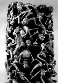 Wood sculptures of the Makonde people