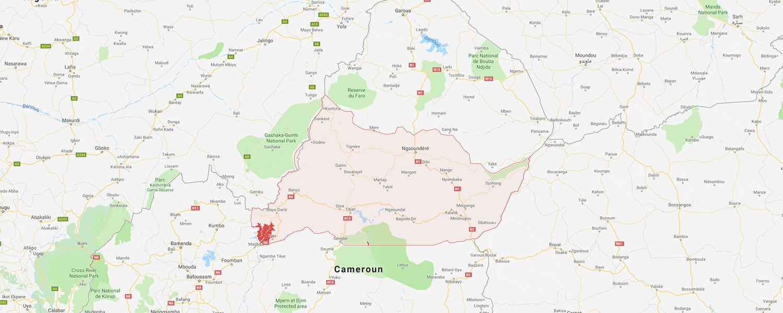 localisation de ethnie Mambila