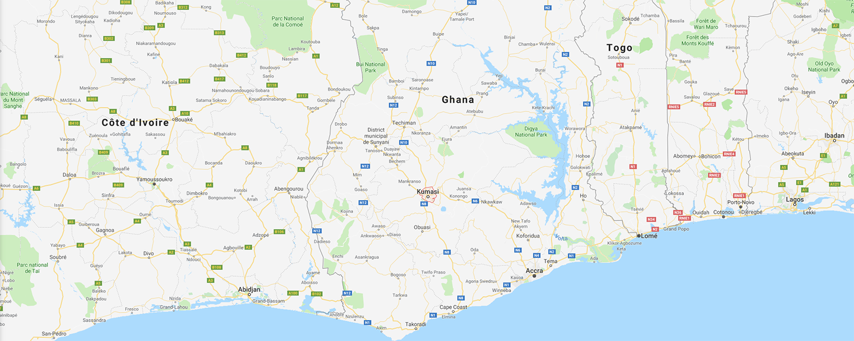 localisation de ethnie Ashanti / Asante