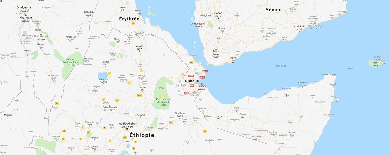 localisation de ethnie Afar / Danakil