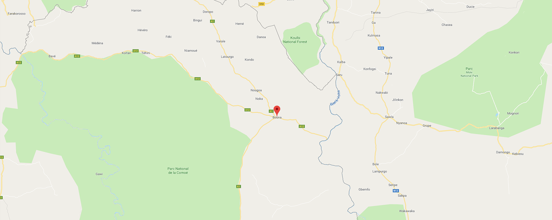 localisation de ethnie Koulango / Kulango Buna