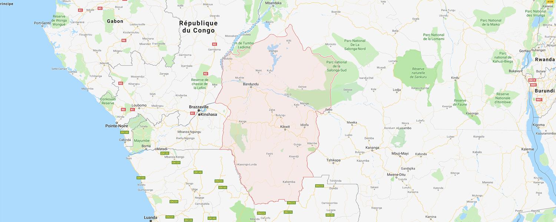 localisation de ethnie Kwese / Ba-Kwese