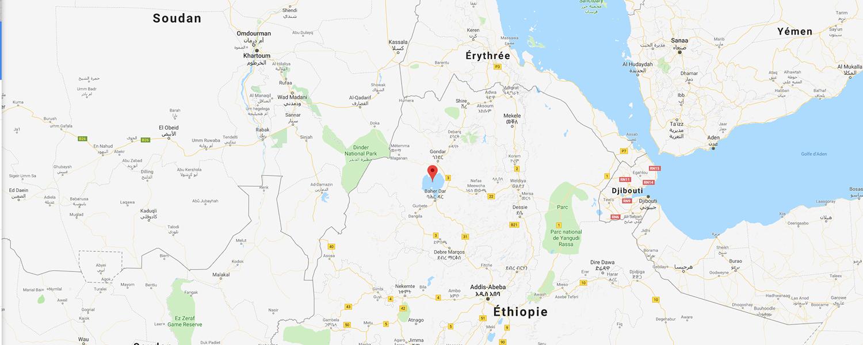 localisation de ethnie Amarro / Amhara