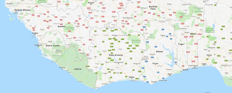localisation de ethnie Krou / Krumen