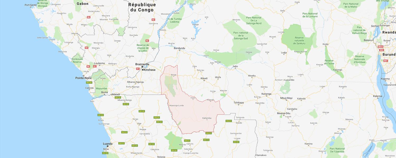 localisation de ethnie Hungana / Hungaan