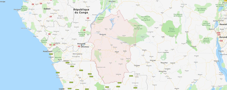 localisation de ethnie Mongo Ekonde