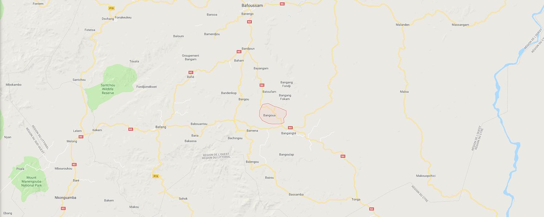 localisation de ethnie Bangwa / Bangoua