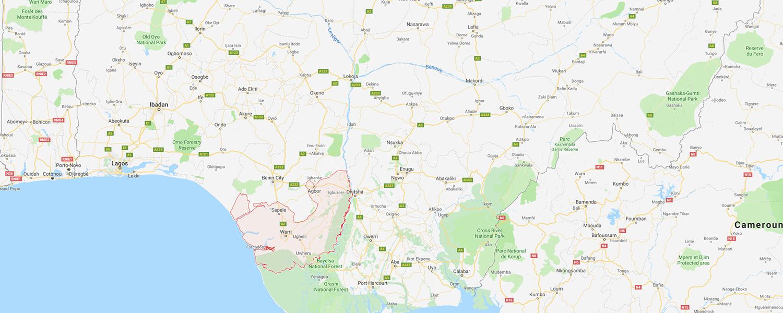 localisation de ethnie Ijo / Ijaw / Izon