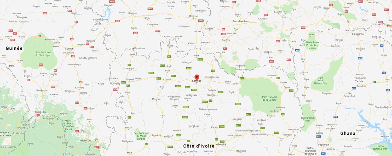 localisation de ethnie Senoufo / Senufo