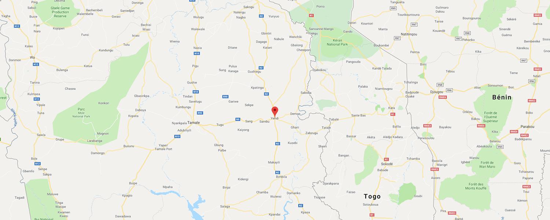 localisation de ethnie Konkomba