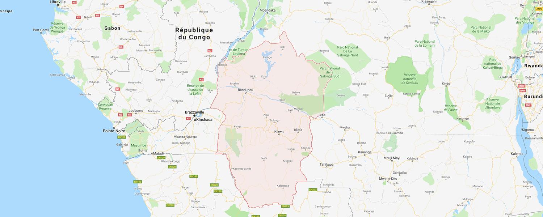localisation de ethnie Kuba / Mongo