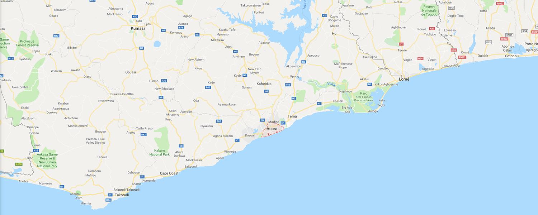 localisation de ethnie Ga